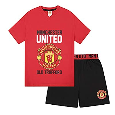 Manchester United Football Club Official Soccer Gift Boys Short Pajamas
