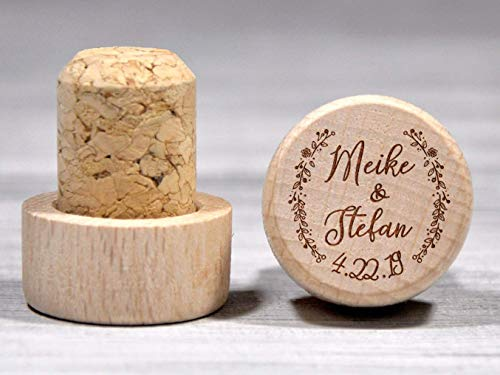 Custom Wine Stopper Gift Personalized Bottle Stopper Couple Gift Etched Wood Cork Custom Wedding Gift Wine Party Favor Rustic Wine Gift Wood Wine Stoppers Bulk -