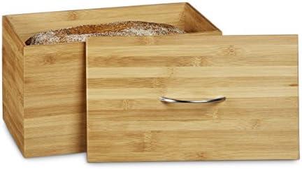 Relaxdays – Panera/Caja para el Pan Hecha de bambú con Base de MDF ...