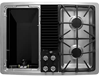 GE Profile PGP990SENSS 30 Downdraft Gas Modular Cooktop, 2 Sealed Burners - Stainless Steel