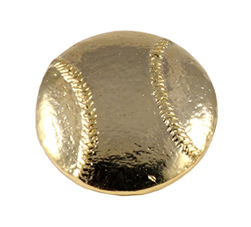 Creative Pewter Designs Baseball 22k Gold Plated Lapel Pin, Brooch, Jewelry, AG508