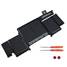 """A1493 New Laptop Battery for Apple A1502 ME864LL/A ME866LL/A; MacBook Pro 13"""" Retina Battery-Only for Late 2013, Mid 2014 Version [Li-Polymer 11.34V 71.8Wh]"""