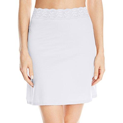 Vassarette Women's Adjustable Waist Half Slip 11073, White Ice-18 inch, Small (Slip Womens White)