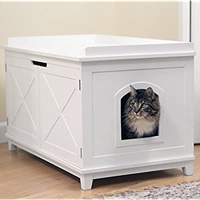 Cat Box Smart Design Cat Washroom Box Extra-large Litter Boxes [tag]