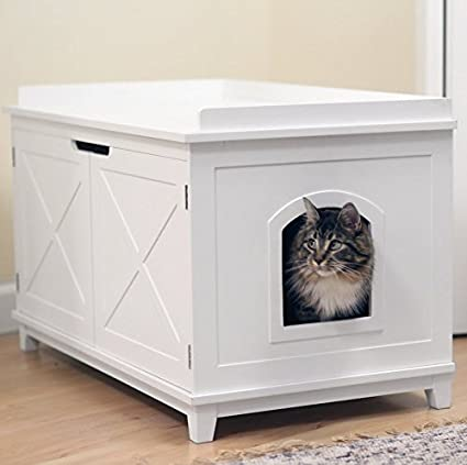 Amazoncom Smart Design Cat Washroom Box Extralarge Litter Boxes