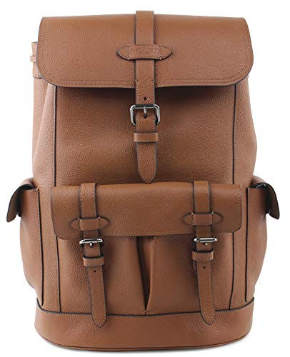 Coach Men's Hudson QB Saddie Pebbled Leather Backpack, Style F36811