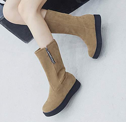 Mod Femme Bout Chaussures Rond Classique Aisun Plates PYwaF6dYq