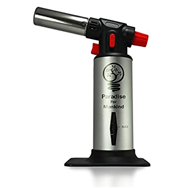 Blow Torch - Ignite the Professional Chef Within You - Fun in the Kitchen - Versatile Use in Cooking - Create Your Own Quality Creme Brulee - Easy To Use - Durable Refillable Butane Gas Torch Lighter