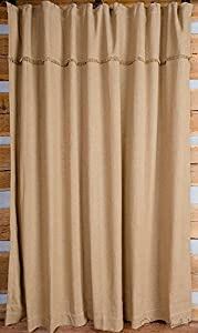 Amazoncom Deluxe Burlap Natural Tan Shower Curtain Home Kitchen