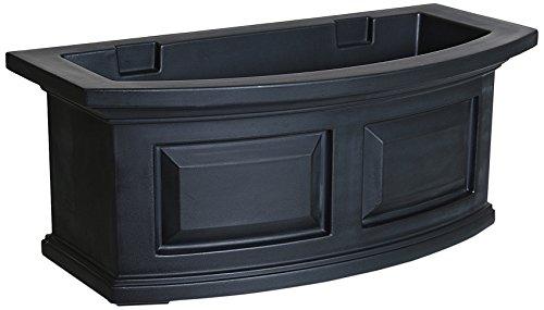 Mayne 4829-B Nantucket Polyethylene Window Box, 2', Black by Mayne