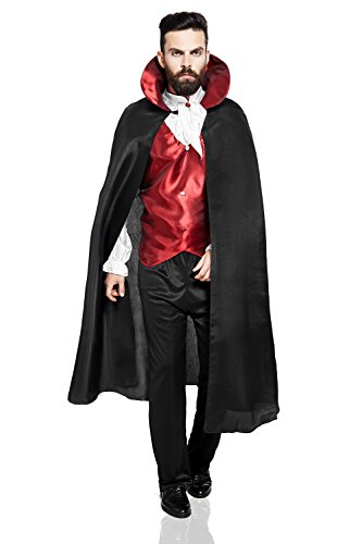 Gras Mardi Ideas For Guys Costume (Adult Men Dracula Halloween Costume Prince of Darkness Gothic Vampire Clothing (Medium/Large, Black,)
