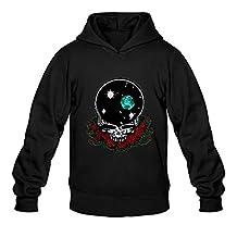 Crystal Men's Grateful Dead Long Sleeve Sweatshirts And Hoodies Black US Size S