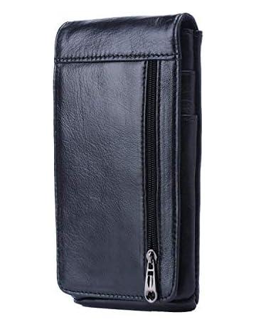 698639d7a Hengying Vertical Funda para Cinturón Bolso de Cintura Hombre Cuero Cartera  para Teléfono Móvil de 5.5