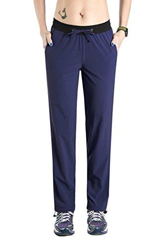 Nonwe Women's Quick Drying Outdoor Walking Pants with Drawstring Hem Blue Granite XL/32 Inseam