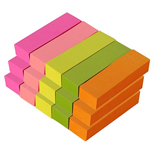 MyLifeUNIT Small Sticky Notes, Self-Stick Notes 0.6 x 2 Inch, Variety of Colors (100 Pcs x 15 - Small Stick Notes