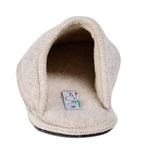 Pantofola In Intrecciata Lana Treccia Clare Cotta Donna Beige Invernale Stella Le qwtCYPT