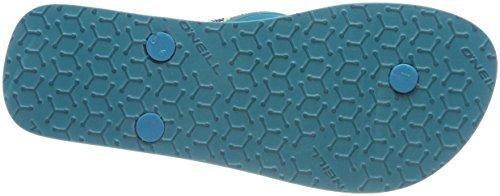 ONeill Damen FW Printed Strap Flip Flops Zehentrenner Grün (6083 Brook Green)