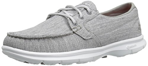 Skechers Performance Women's Go Step-Marina Boating Shoe, Gray Marina, 5 M US