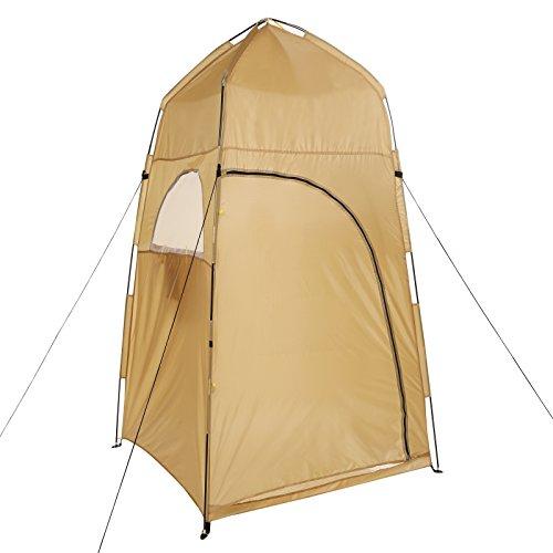 Gracelove Yellow Outdoor Shower Bathing Movable Dressing Zipper Locker Waterproof Tent
