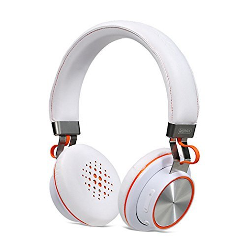 Bluetooth Headphone, Remax 195HB Wireless Headphones Bluetooth 4.1 Stereo Headphones With Microphone Over-ear Music Headsets For Cellphones Computer Laptop Tablet TV (White)