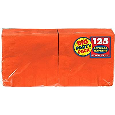 Big Party Pack Orange Peel Beverage Napkins | Pack of 125 | Party Supply: Toys & Games