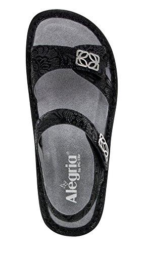 Black Vienna Leaf Alegria Women's Loafer 8Y8tP