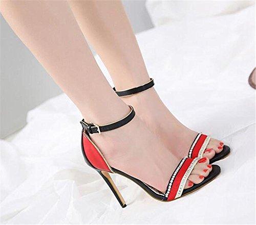 Club da 35 tacco Abito 43 Festa GAOGENX con donna da a Pompe Strass Scarpe sandali EU37 Multicolore a spillo wq8ZXx6