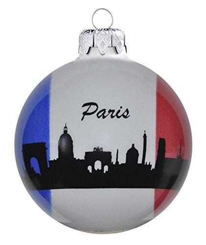 'Décoration de Noël en verre 8cm 3couleurs Paris