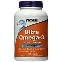NOW Ultra Omega 3 Fish Oil,180 Softgels