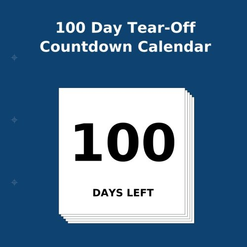 100 Day Tear-Off Countdown Calendar -