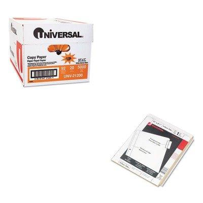 KITUNV21200WLJ54310 - Value Kit - Wilson Jones Single-Sided Reinforced Insertable Index (WLJ54310) and Universal Copy Paper (UNV21200)