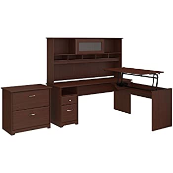 Amazon Com Bush Furniture Cabot 60w 3 Position L Shaped