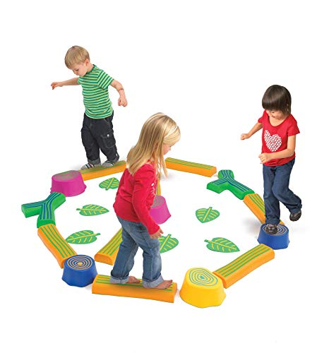 (edx Education Step-a-Forest - 22 Piece Obstacle Course for Kids - Indoor and Outdoor - Build Coordination and Confidence - Physical and Imaginative Play)