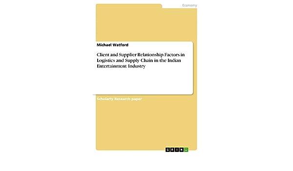 Amazon com: Client and Supplier Relationship Factors in Logistics