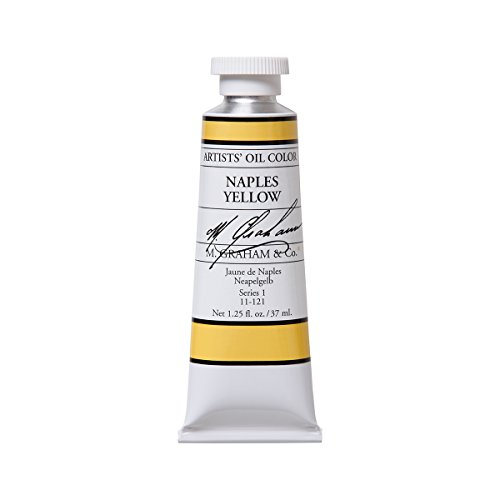 M. Graham Artist Oil Paint Naples Yellow 1.25oz/37ml Tube