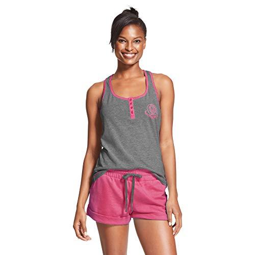 U.S. Polo Assn. Womens Pajama Sets Racerback Tank and Shorts Sleepwear PJs Set Charcoal Heather - Lounge Tank Sets