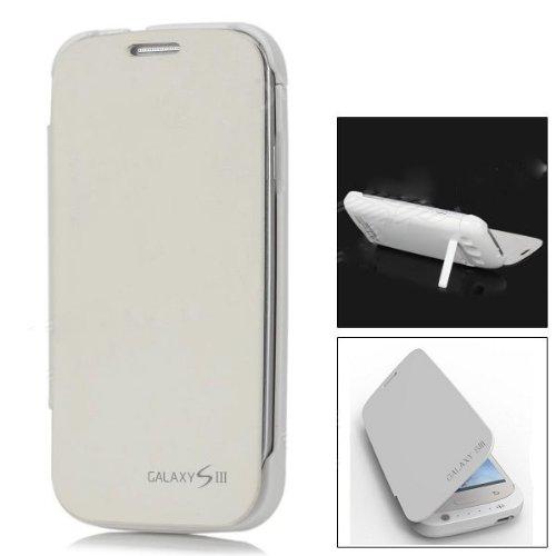 121 opinioni per Flip Cover Case con Batteria esterna Slim Bianco per Samsung Galaxy S3 III i9300