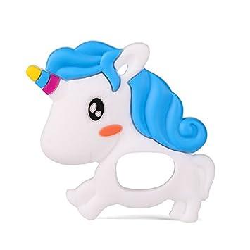 Amazon.com: ronxer bebé Mordedor, unicornio Mordedor masaje ...