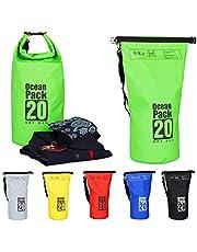 Relaxdays Ocean Pack, 20L, waterdicht, draagtas, lichte droogtas, zeilen, skiën, snowboarden, kleur