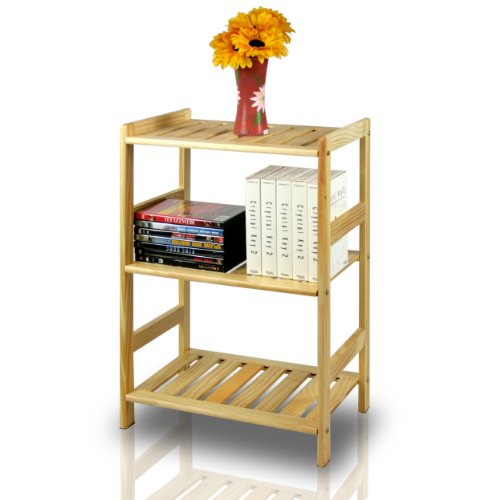 Furinno FNCJ-33011 Solid Wood 3-Tier (3 Shelf)