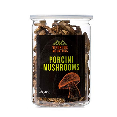 VIGOROUS MOUNTAINS Dried Porcini Mushrooms Boletus Edulis 3 Ounce (Best Way To Find Morel Mushrooms)
