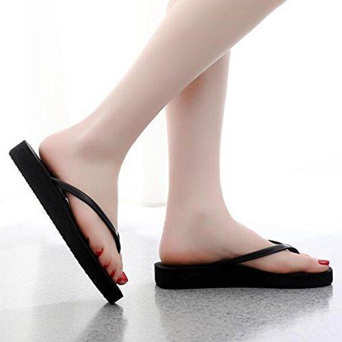 De Plates Pu Pantoufles Sandales Chaussures Noir Maison Clip Femme Seule Eva Supérieure D'été Mode La Orteil wBWgW8Hq