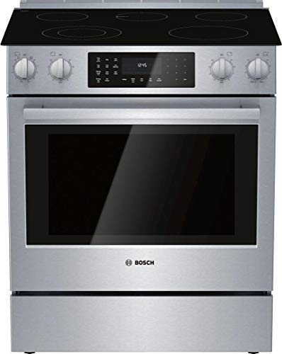 "HEI8056U 30"""" 800 Series Slide-in Electric Range with 5 Elements 4.6 cu. ft. Capacity European Convection and Warming Drawer in Stainless Steel"
