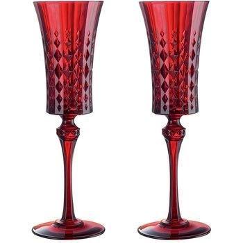 Cristal Darques Lady Diamond.Cristal D Arques Lady Diamond Red Flute 15cl Lot De 2 Amazon Co