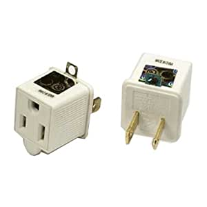 Sf Cable 3 Prong To 2 Prong Adapter 125v/15a Ul 2pc Pack