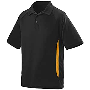 Augusta Sportswear MEN'S MISSION SPORT SHIRT S Black/Gold