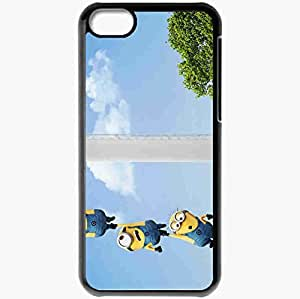 Personalized iPhone 5C Cell phone Case/Cover Skin 2013 despicable me 2 minions movies Black