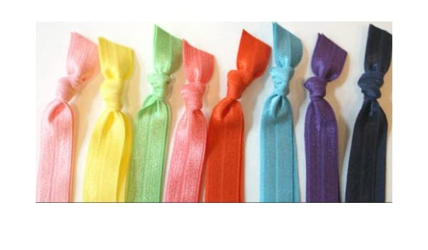 Amazon.com   8 Fabric Hair Ties - Soft Stretchy Hair Bands By Preppy Pieces Hair  Ties   Beauty 3352421ca1a