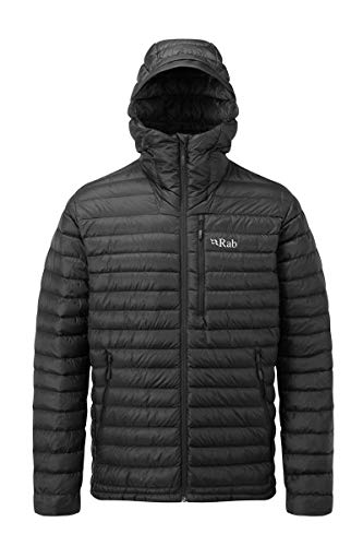 Rab Microlight Alpine Long Jacket Men grey 2018 winter jacket Black
