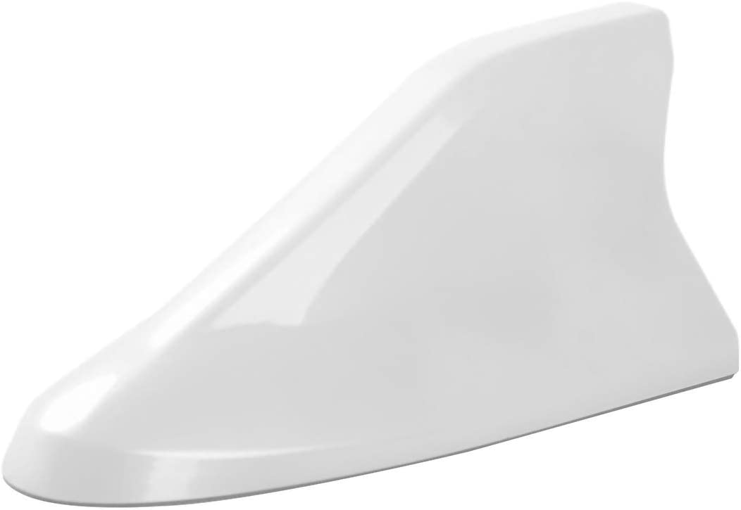 Advanced Style, Pearl White Ramble Shark Fin Antenna Car Radio Functional Aerials Covers for Kia CARENS,Carnival,VQ,Borrego,Ceed,Forte Koup,Rio,K2 3 4 5,K3S and More